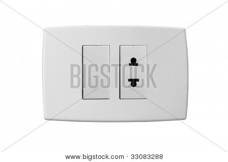 Isolated outlet isolated on white background