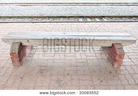 Wooden White Bench
