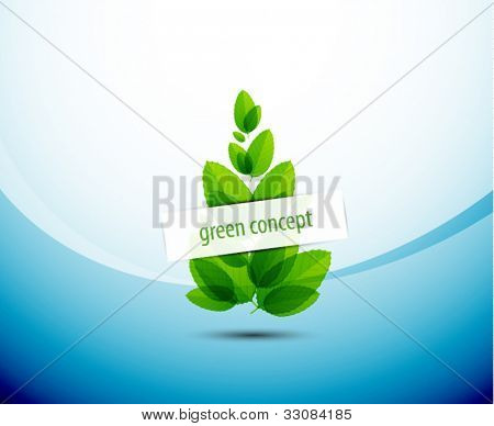 Abstract nature tree green conceptual background