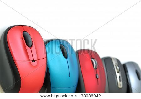 Colorful Wireless Mouses Border