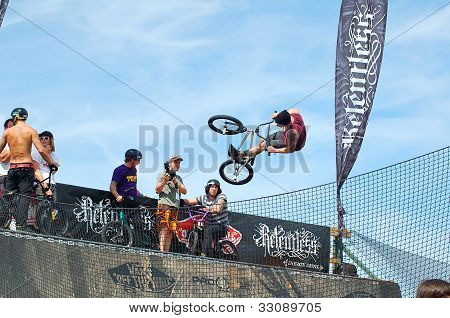BMX event at Relentless Boardmasters, Newquay