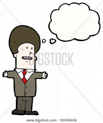 cartoon big hair businessman