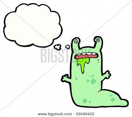 cartoon alien slug monster