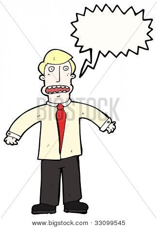 cartoon stressed businessman