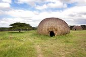 stock photo of zulu  - Landscape of rural zululand - JPG