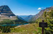 Hidden Lake Overlook Along The Hidden Pass Trail In Logan Pass Area Of Glacier National Park, Montan poster