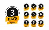 Countdown Banners. One, Two, Three, Four, Five, Six, Seven, Eight, Nine Of Days Left To Go. Count Ti poster