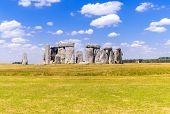 Landscape of Stonehenge England United Kingdom, UNESCO World heritage Site. poster