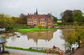 Egeskov, Denmark, Halloween: Egeskov Castle Egeskov Slot Located In The South Of The Island Of Funen poster
