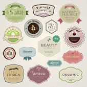 stock photo of cosmetic products  - Set of vector labels and stickers for cosmetics - JPG