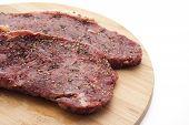 Spicy cattle steak poster