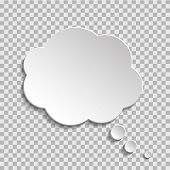 Bubble Of Think On Transparent Background. Cloud Message For Text, Comic. Fun Speech Bubble On Isola poster