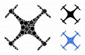 Airdrone Composition Of Round Dots In Various Sizes And Color Hues, Based On Airdrone Icon. Vector R poster