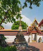 Classical Thai Architecture Of Wat Pho Public Temple, Bangkok, Thailand. Wat Pho Known Also As The T poster