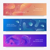 Flyer Design With Abstract Background And Liquid Gradient. Suitable For Brochures, Flyers, Flyers, B poster
