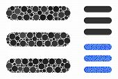 Stack Mosaic Of Circle Elements In Various Sizes And Color Tones, Based On Stack Icon. Vector Circle poster