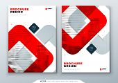 Red Brochure Design. A4 Cover Template For Brochure, Report, Catalog, Magazine. Layout With Bright C poster