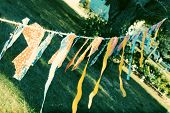 image of windchime  - Homemade banner to advertise a sale - JPG