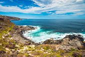 Kangaroo Island Coastal Line Viewed From Fur Seal Lookout, South Australia poster