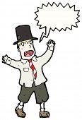 image of hobo  - cartoon hobo in top hat - JPG