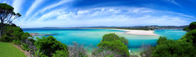 image of summer beach  - A Gorgeous Australian Summer Beach Panoramic Photo - JPG