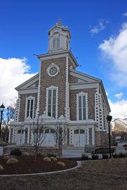 foto of tabernacle  - exterior of Logan Tabernacle in Utah - JPG