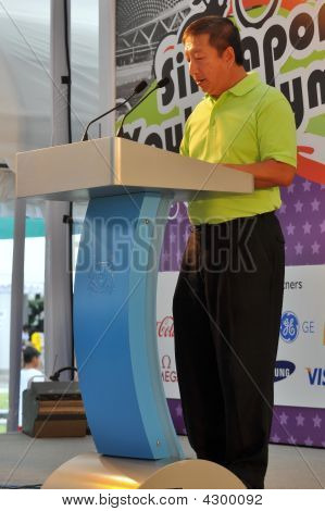 Speech During Youth Olympic Games Logo Launch
