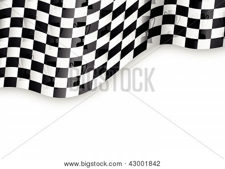 checkered flag background with trophy