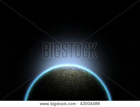 Planet With Galaxy
