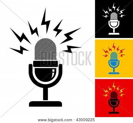 Microfone retrô
