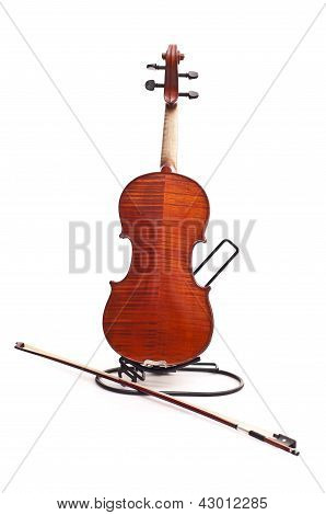 Back Of Violin And Fiddlestick