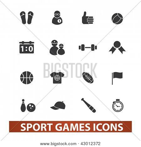 sport games icons set, vector