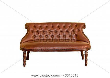 Vintage sofa furniture Isolated