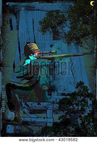 crypt monster - sniper