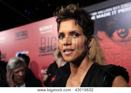 LOS ANGELES, CA - MAR 5: Halle Berry at the premiere of Tri Star Pictures' 'The Call' at ArcLight Cinemas on March 5, 2013 in  Los Angeles, California