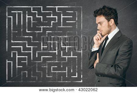 Empresário buscar a solução