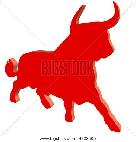 Red Plastic Bull
