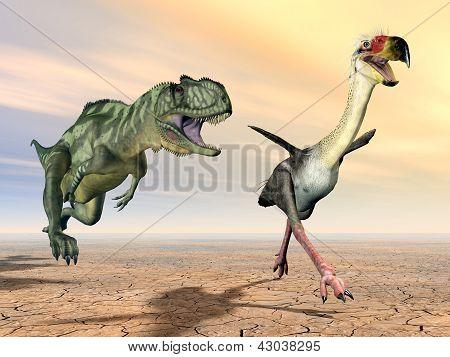Yangchuanosaurus and Phorusrhacos