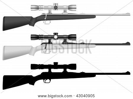 Rifle com mira