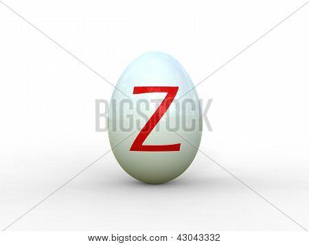 Egg Letter Z