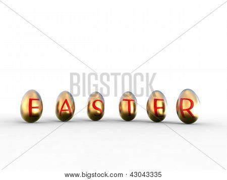 Golden Eggs Easter