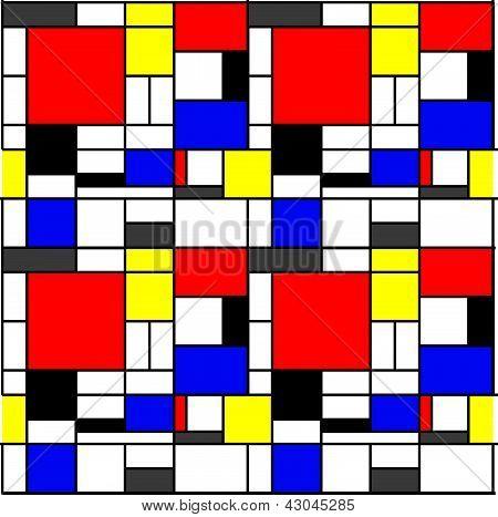Seamless Mondrian Pattern