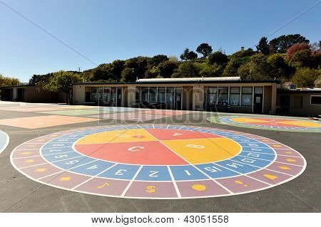 Painting On A Playground Area For Kids