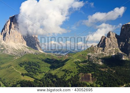 Sella Pass, Trentino, Italy
