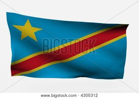 Dem Rep Congo 3D Flag