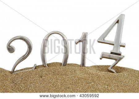 Ano novo 2014 na areia