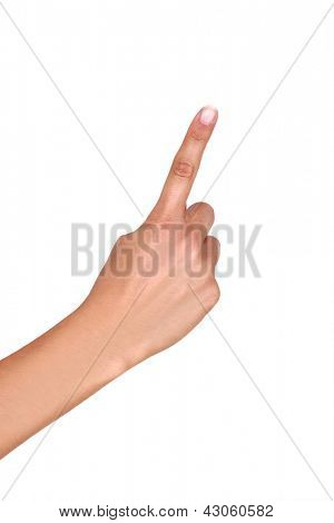 Woman wagging finger