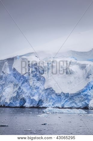 Frozen Cold Iceberg Formation