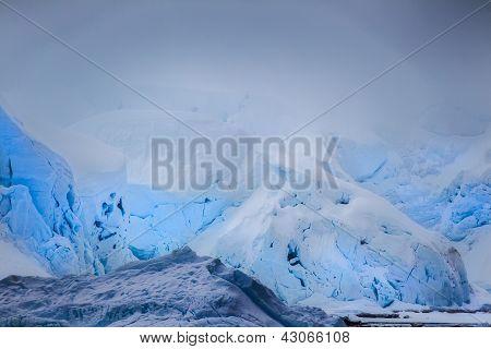 Layers Of Blue Iceberg