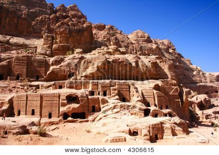 Ancient Rock City Petra In Jordan